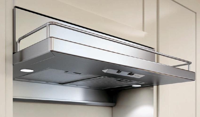 Кухонная вытяжка, встроенная в шкаф