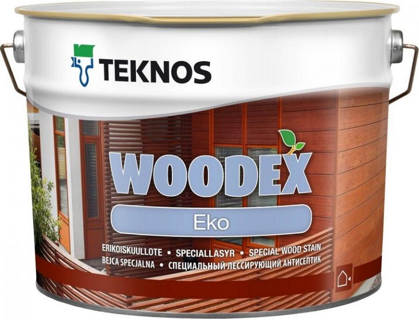 Водоразбавляемый лессирующий антисептик на маслянной основе Вудекс Эко можно наносить на древесину, используя кисть, валик или краскопульт