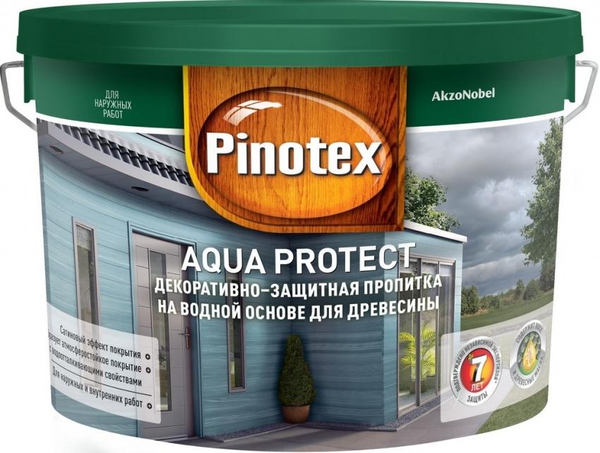 Качественный и долговечный результат окрашивания можно получить, нанеся 2-3 слоя защитной пропитки для дерева Pinotex AQUA PROTECT