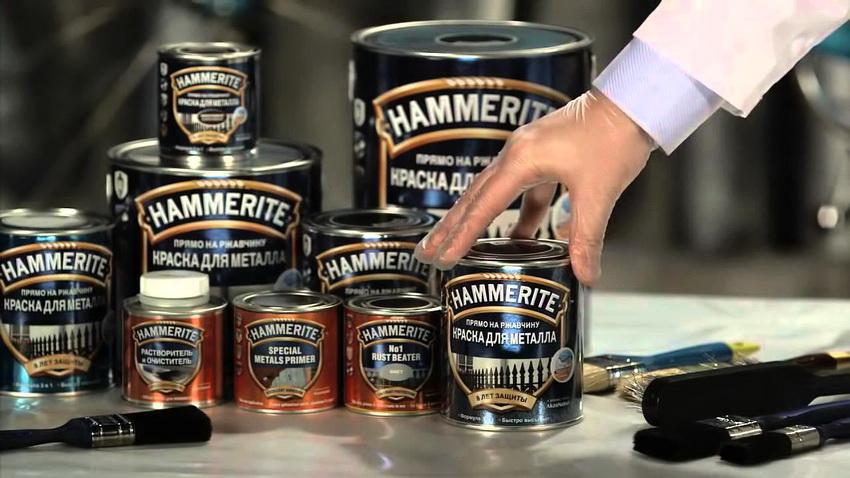 Краски от производителя Хаммерайт направлены на обработку металла и дерева
