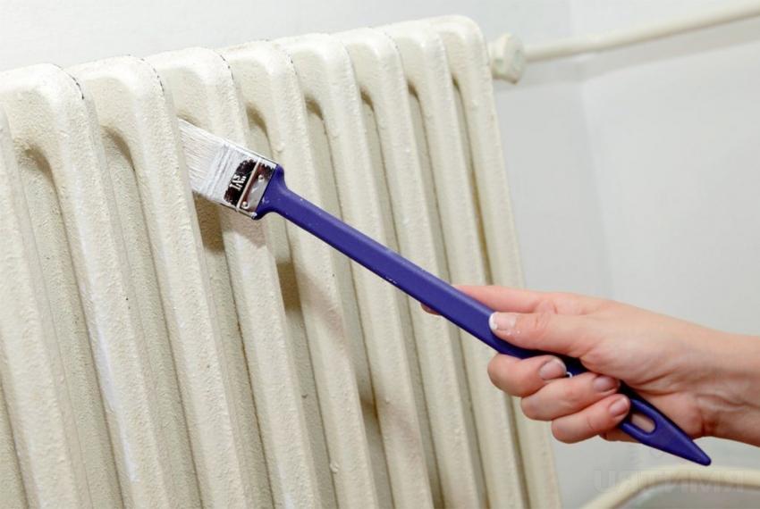Для окрашивания батарей и котлов стоит использовать термостойкую молотковую краску по металлу