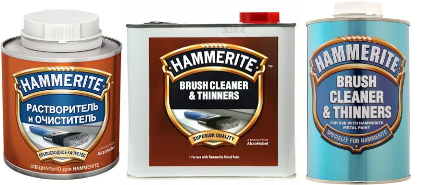 С помощью очистителей и разбавителей Hammerite Brush Cleaner & Thinners можно не только подготовить поверхности к окраске, но и обработать инструменты после работы