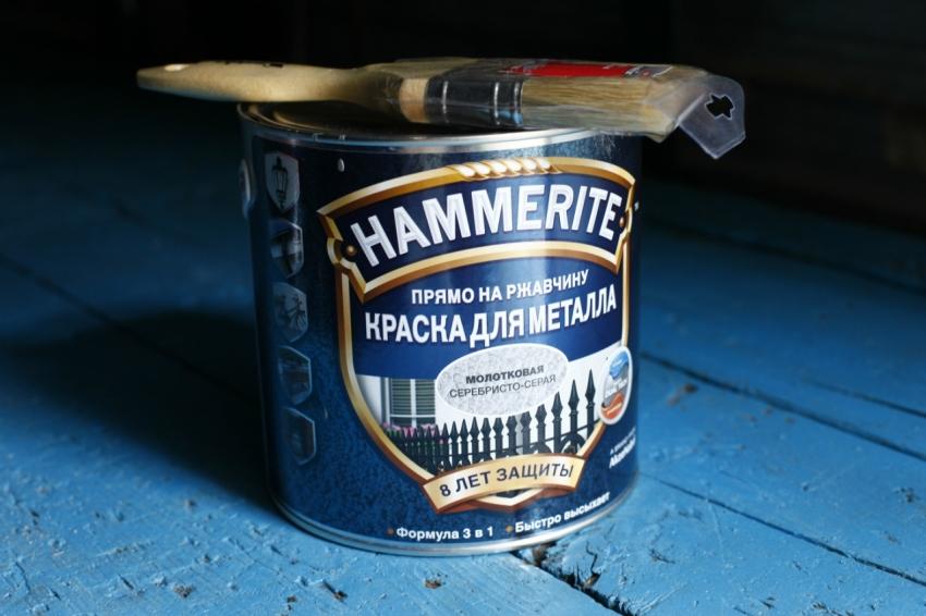 Молотковую краску по металлу можно использовать, предварительно не очищая поверхность