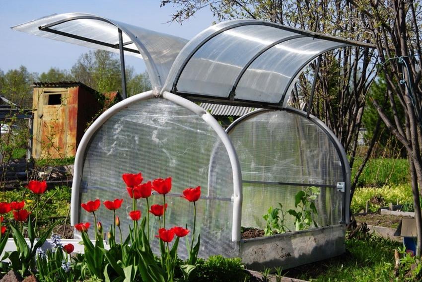 Парник Бабочка довольно универсален и прекрасно подходит для выращивания рассады, зелени, редиски, огурцов и т. п.