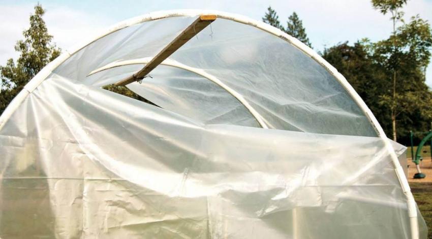 Полиэтиленовая пленка считается самым дешевым и популярным материалом для укрытия парников