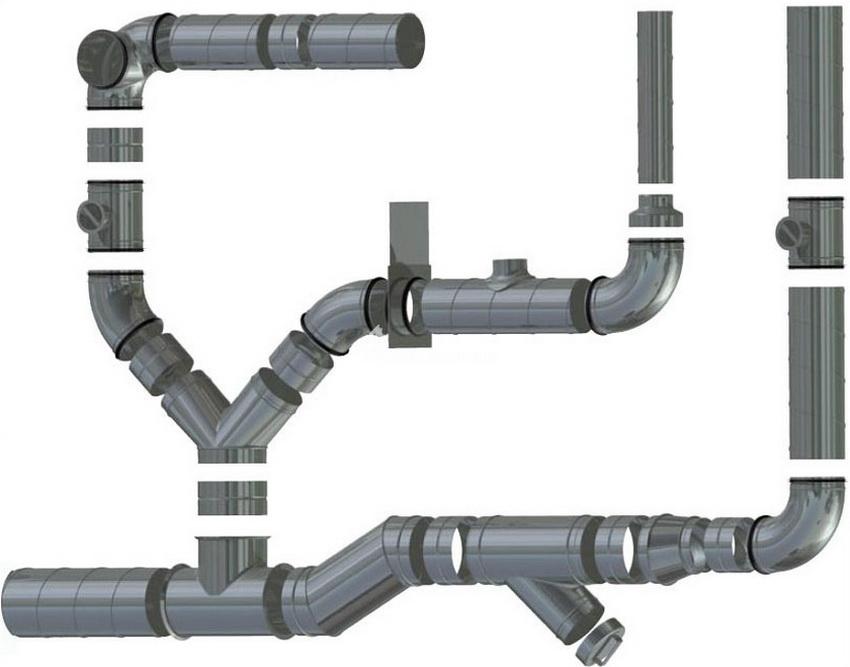 Соединение элементов пластиковых воздуховодов вентиляции