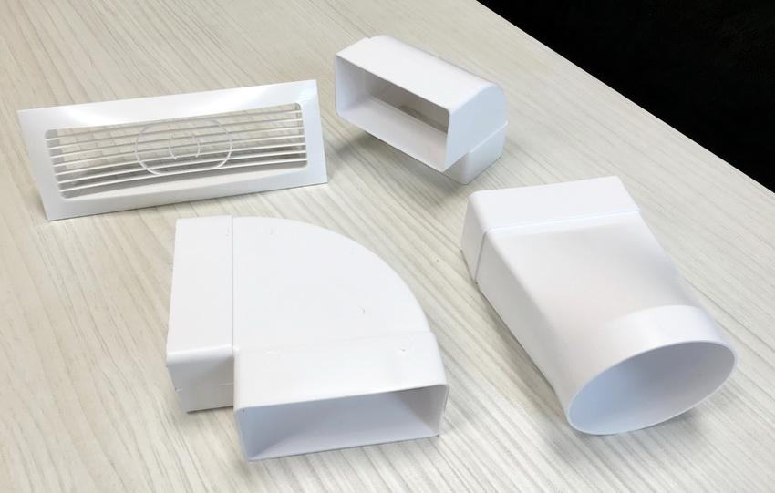Фасонные элементы пластикового воздуховода