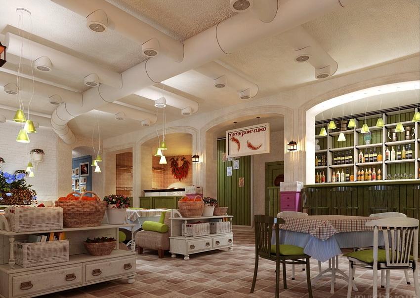 Вентиляционные короба в квартире можно идеально вписать в общий дизайн
