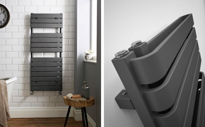 Пример модернизированного типа полотенцесушителя с функцией обогрева помещения