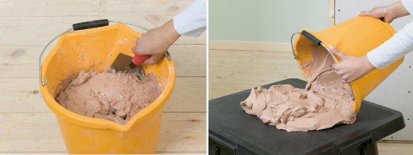 При отделке стен фактурной штукатуркой обязательно стоит учитывать рабочее время состава, за которое он не засыхает и имеет правильную консистенцию