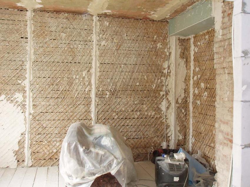 Подготовка деревянной стены перед штукатуркой