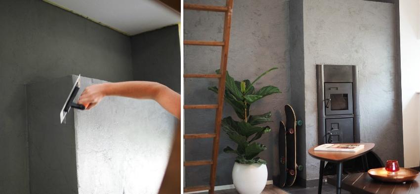 С помощью фактурной штукатурки можно быстро и эффектно преобразить интерьер в квартире