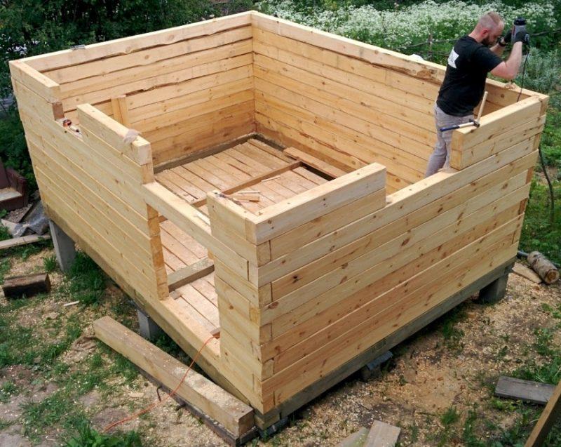 Строительство каркасного бани своими руками 14