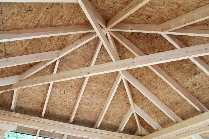 Размер и сечение стропил зависит от размера самой крыши, а также от угла наклона скатов