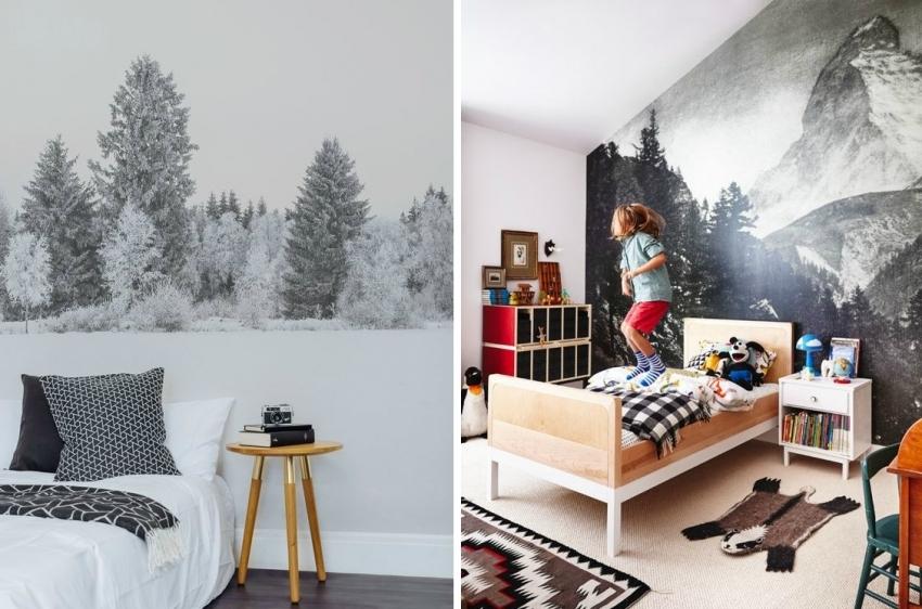 Фото-обои с изображением природы способны привнести уют и умиротворение в интерьер, поэтому они часто используются для оформления спален или детских комнат