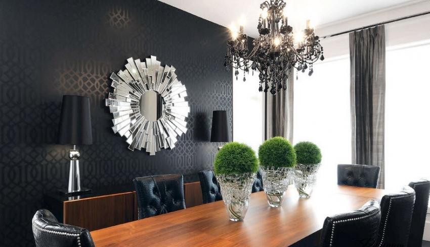 Важным аспектом в черно-белом интерьере является выбор световых решений - массивных люстр в классическом стиле или точечного освещения в более современном оформлении