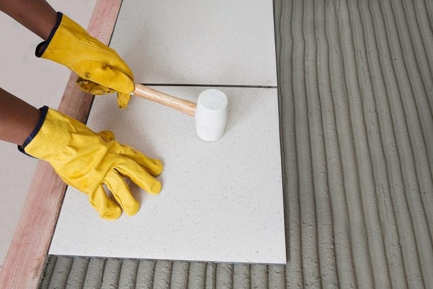 Традиционный способ укладки плитки не требует тщательной разметки