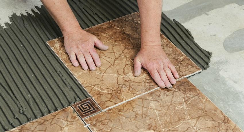 Clean old ceramic tile