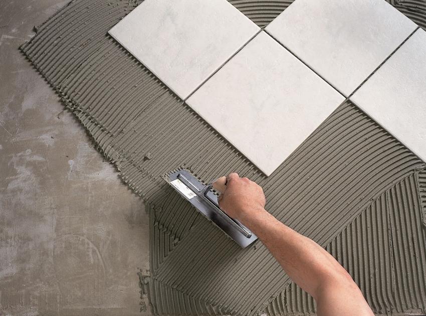Технология укладки плитки на пол со смещением требует покупки специальных переходников