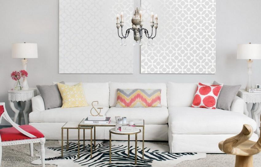 Современные дизайнеры часто используют комбинируемые обои для оформления стен в виде картин