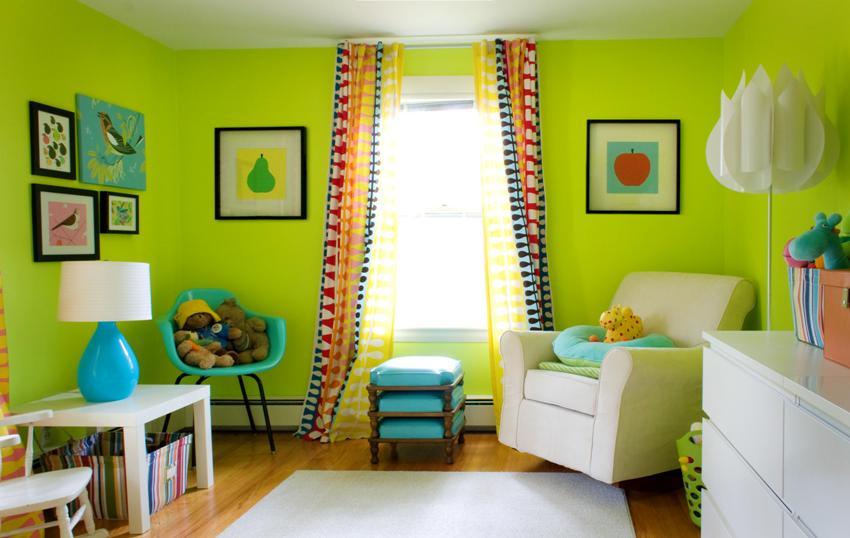 Полотна под покраску - идеальный вариант для стен детских комнат, которые чаще других требуют обновления