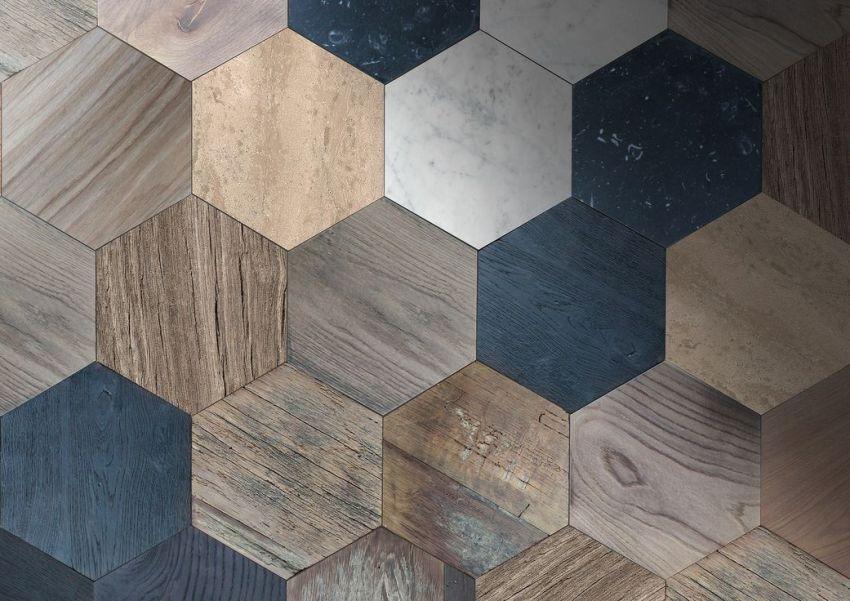 Оригинальная плитка в форме шестигранника