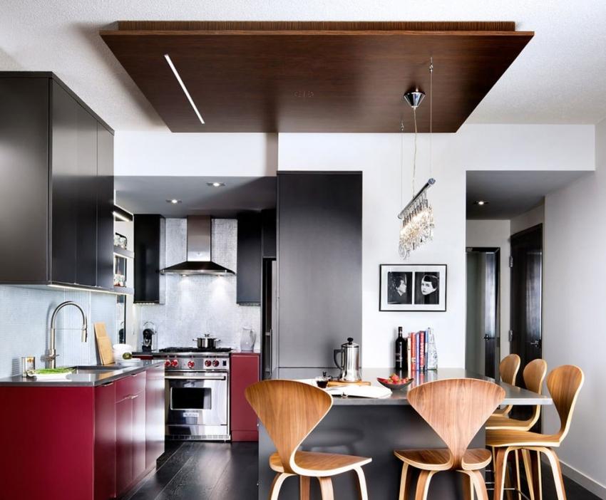 Пример удачной реализации навесного потолка в стиле минимализм
