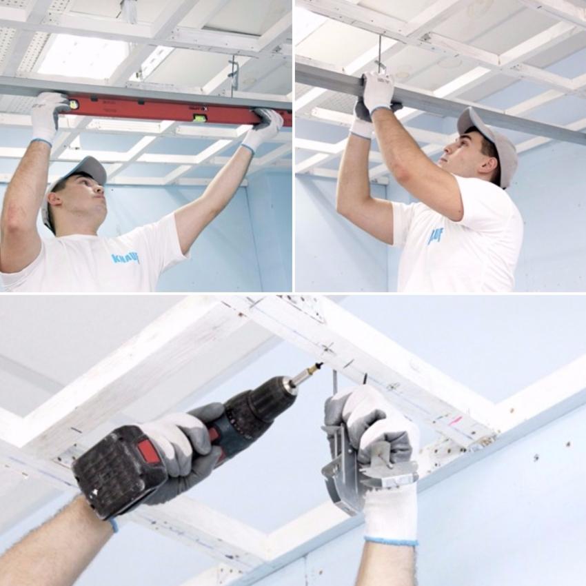 При монтаже навесного потолка стоит уделить особое внимание качеству креплений реек, что позволит избежать неровностей при финальной отделке