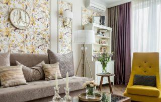 Обои для гостиной: фото интерьеров с интересным дизайном