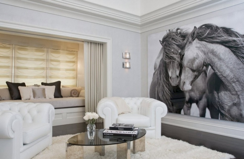 Фото-обои являются современным и популярным способом отделки стен помещения