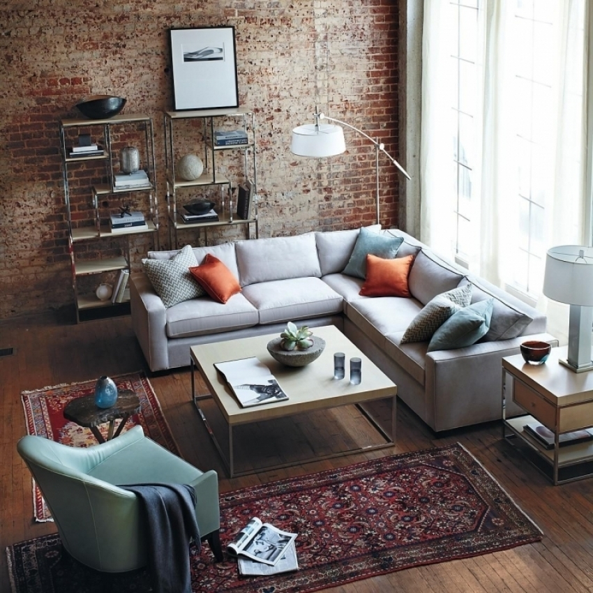 Обои под кирпич или натуральную бетонную плиту используются для оформления стен в стиле лофт или модерн