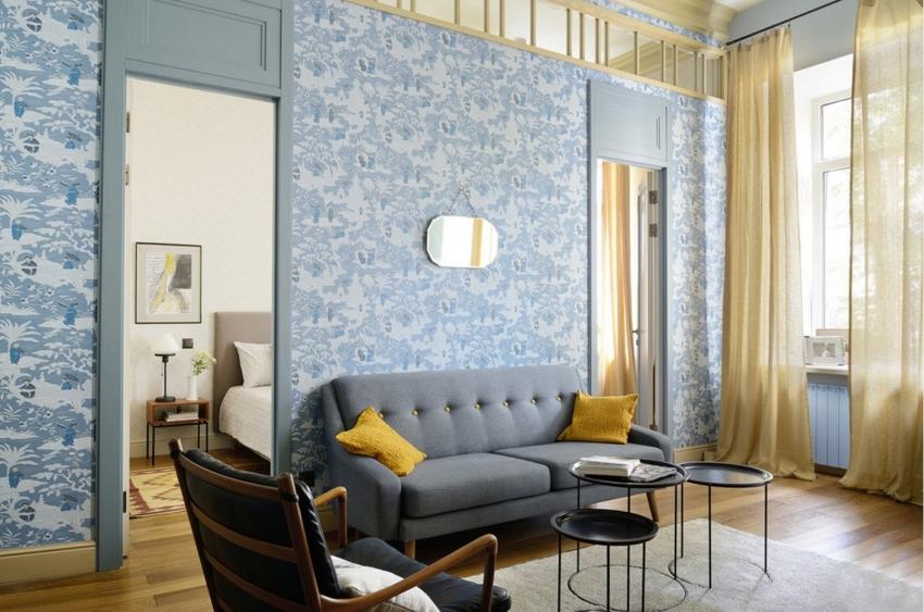 Для того чтобы помещение выглядело гармонично, при выборе обоев следует придерживаться правил сочетания цветов в интерьере