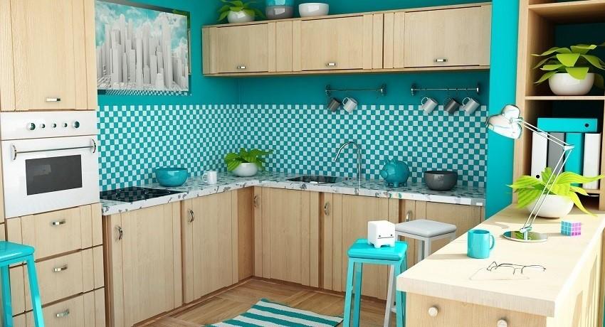 Яркие цвета в современном интерьере кухни становятся все популярнее