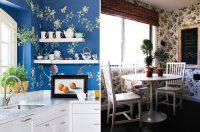 Яркие цвета и смелые принты прекрасно подойдут для интерьера кухн