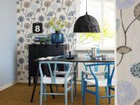 Уютный дизайн кухни в голубых тонах
