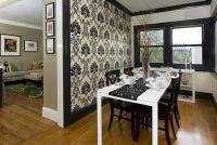 Кухня, выполненная в черно-белых цветах