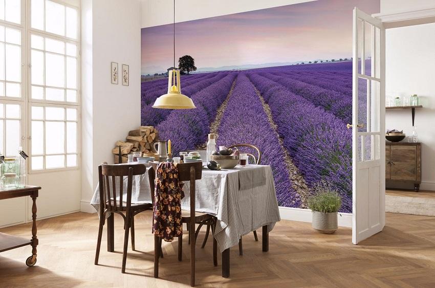 Фотообои украсят любой интерьер кухни