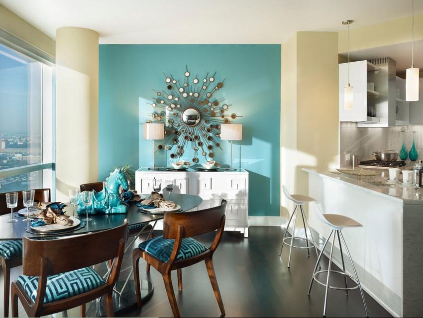 Декорирование обоями превратит столовую в интерьерный шедевр