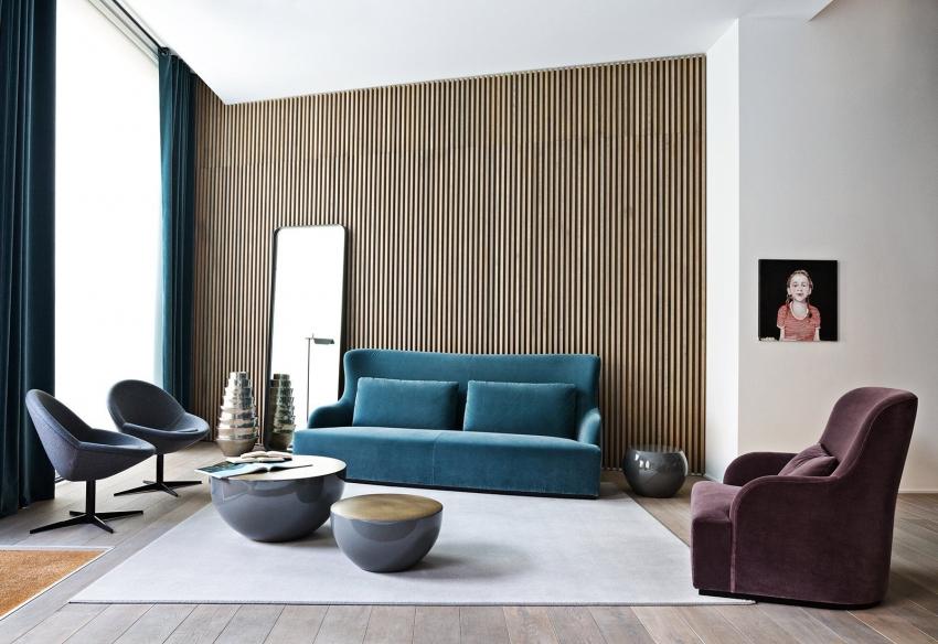 3D обои с имитацией деревянной доски могут визуально выделить и даже увеличить стены комнаты