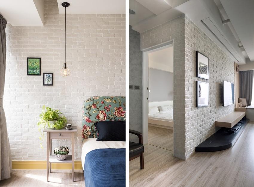 Обои под светлую кирпичную кладку в современных интерьерах