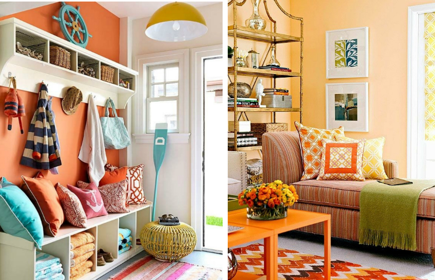 Для небольших помещений лучше использовать светлые и теплые оттенки краски