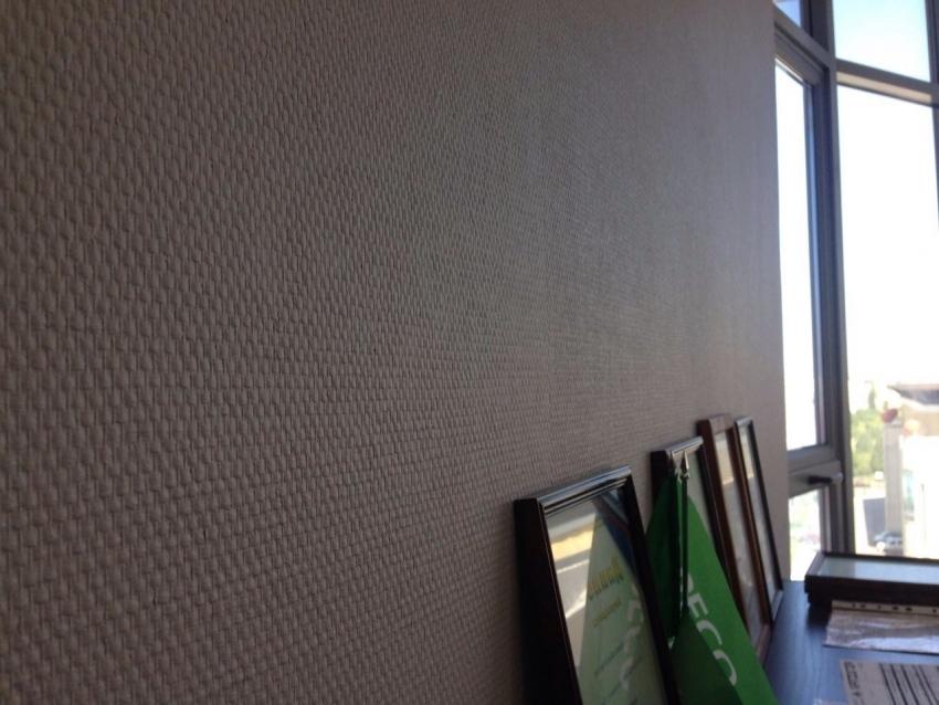 Фактурные обои под покраску на флизелиновой основе обладают довольно высоким уровнем прочности, что делает их популярным вариантом для отделки офисов и прихожих
