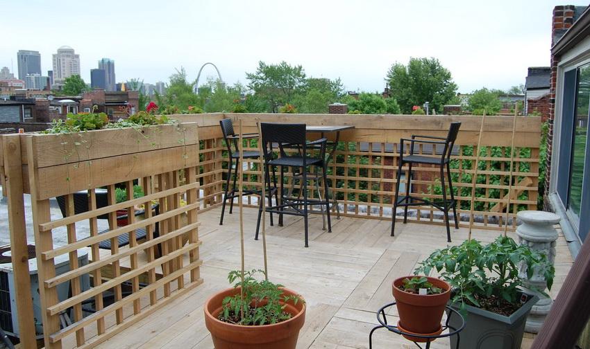 Терраса на крыше может стать любимым местом отдыха для всей семьи