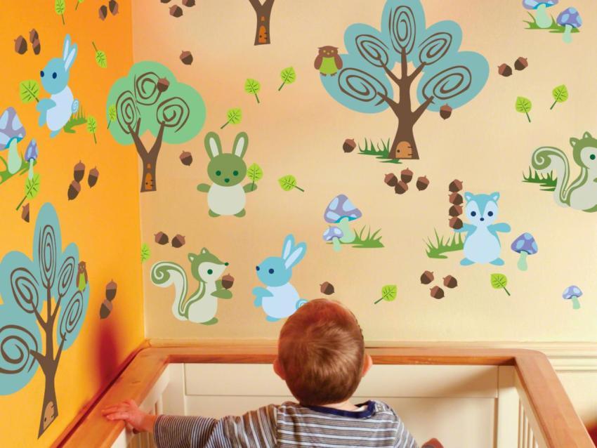 Для оформления детской комнаты необходимо выбирать только экологически чистые краски