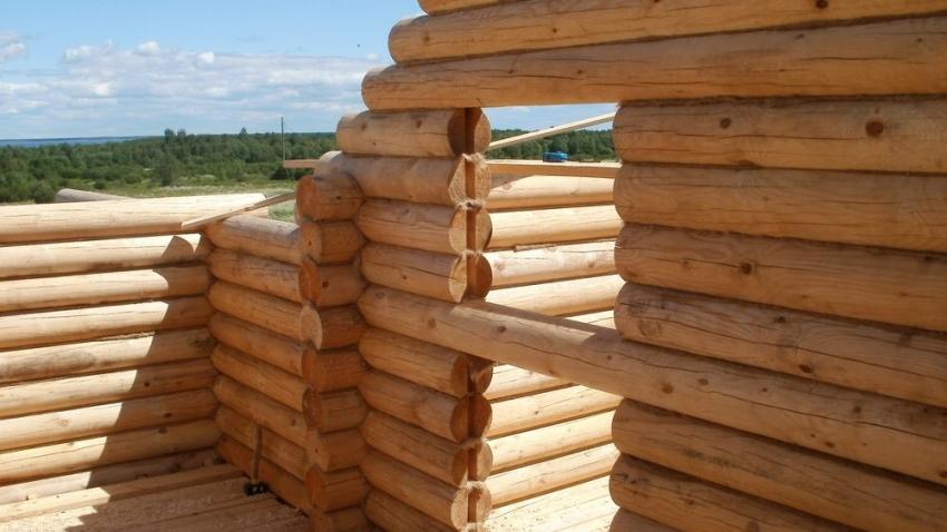 Если приобрести готовые бревна необходимого размера у производителя, можно построить баню довольно быстро