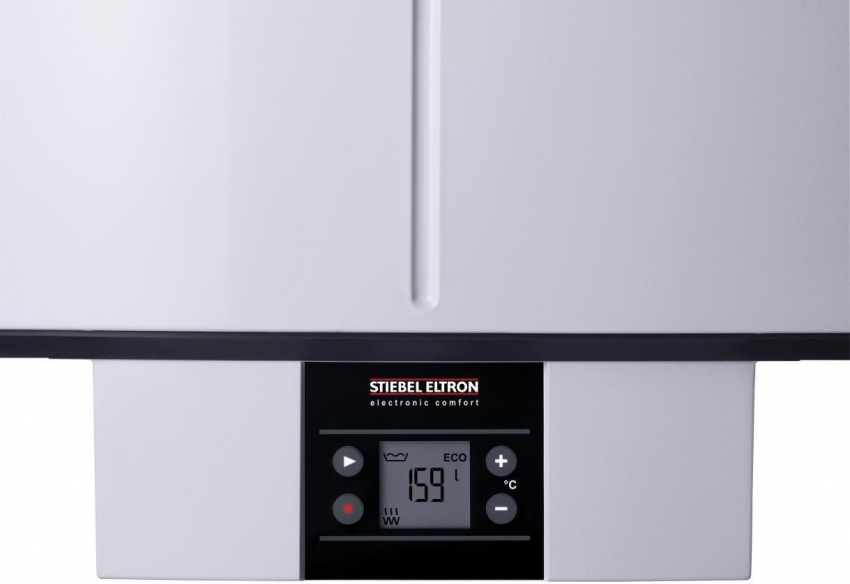 Модель бойлера от компании StiebelEltron SHZ 50LCD позволяет регулировать количество и температуру воды с помощью настройки разных режимов нагрева
