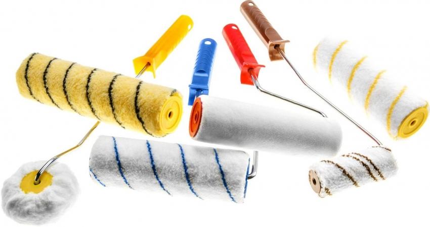 Размер и шубку малярного валика необходимо выбирать исходя из типа поверхности, которую необходимо окрасить