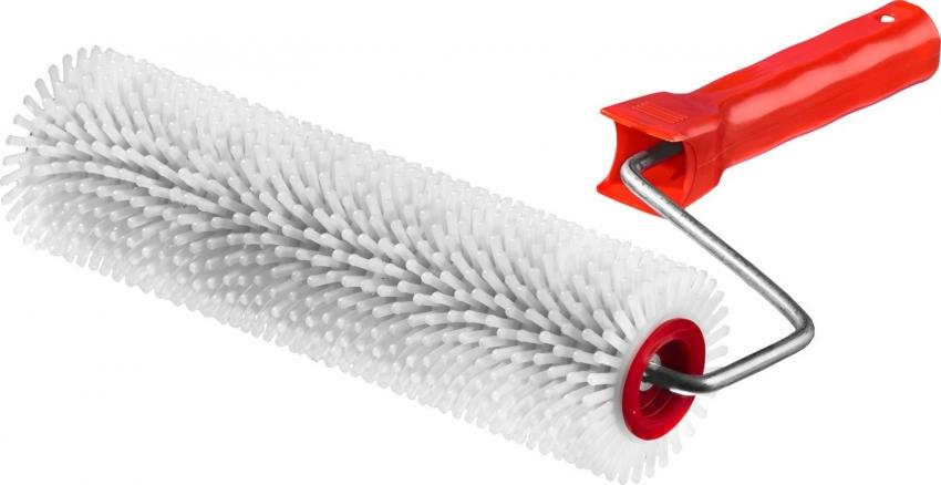 Игольчатый валик используется для работы с вязкими красками для устранения пузырьков воздуха