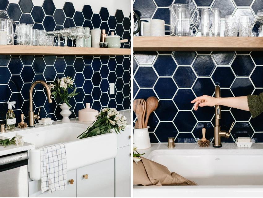 Керамическая плитка в форме шестигранника является трендом 2017-2018 годов