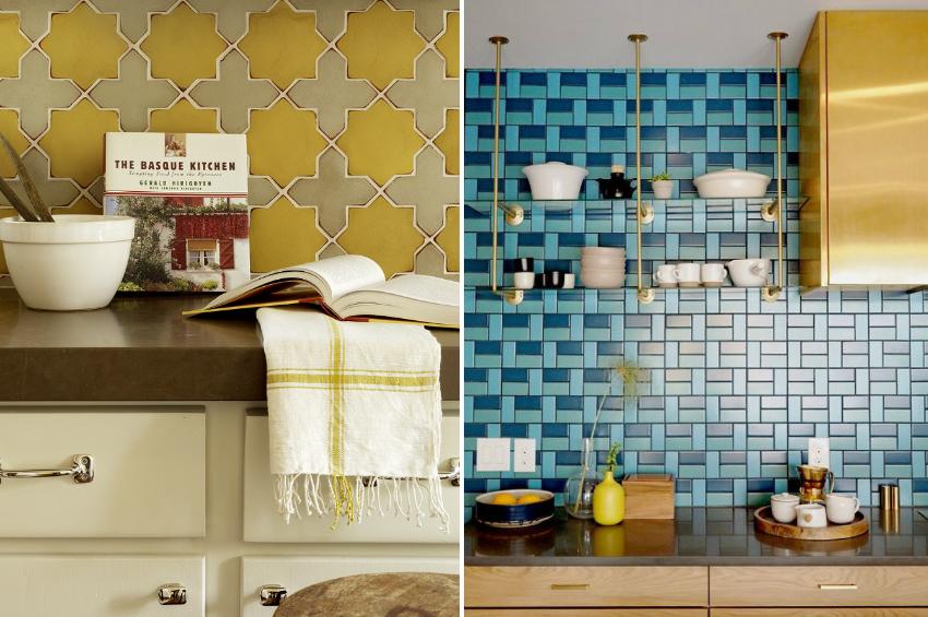 Цвет плитки для фартука необходимо выбирать исходя из общей цветовой гаммы гарнитура и отделки стен